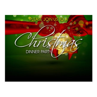 Tarjeta del fiesta de cena de navidad del negocio tarjetas postales