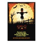 Tarjeta del fiesta de Halloween del claro de luna Invitación 12,7 X 17,8 Cm