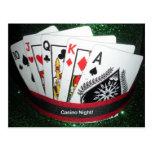 Tarjeta del fiesta de la noche del casino postales