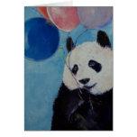 Tarjeta del fiesta de la panda