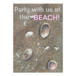 tarjeta del fiesta de la playa de la invitación