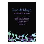 Tarjeta del fiesta de Mitzvah de la barra del Invitaciones Personalizada