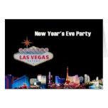 Tarjeta del fiesta de Noche Vieja de Las Vegas