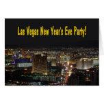 ¡Tarjeta del fiesta de Noche Vieja de Las Vegas!