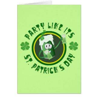 Tarjeta del fiesta del día de St Patrick