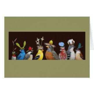 tarjeta del fiesta del pájaro
