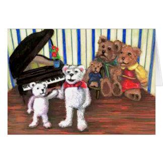 Tarjeta del fiesta del piano