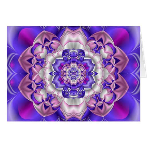 Tarjeta del Flor-Fractal