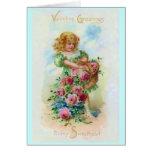 Tarjeta del florista de la tarjeta del día de San