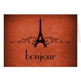 Tarjeta del Flourish del francés del vintage, nara