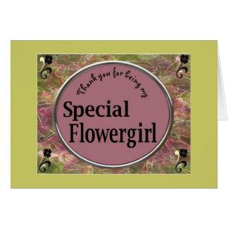 tarjeta del flowergirl