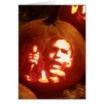 Tarjeta del franqueo de la calabaza de Halloween B