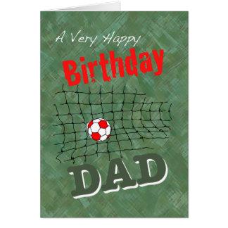Tarjeta del fútbol para el papá