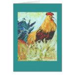 tarjeta del gallo