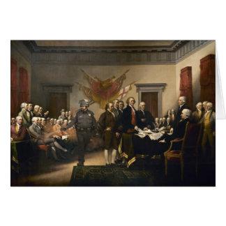 Tarjeta del gas de la Declaración de Independencia