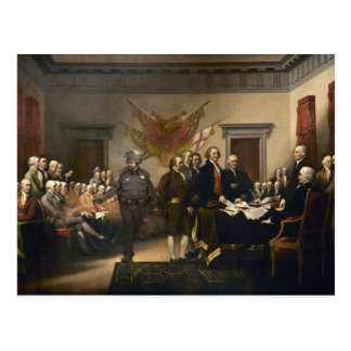 Tarjeta del gas de la Declaración de Independencia Postales
