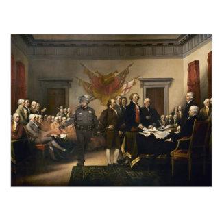 Tarjeta del gas de la Declaración de Independencia Postal