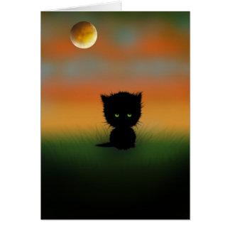 Tarjeta del gatito de Halloween por Molly Harrison