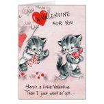 Tarjeta del gatito de la tarjeta del día de San Va