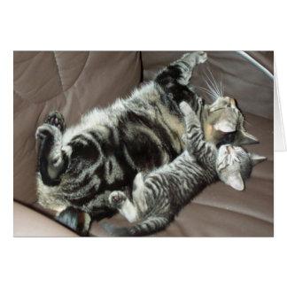 Tarjeta del gatito del día de padre