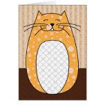 """Tarjeta del """"gato anaranjado"""""""