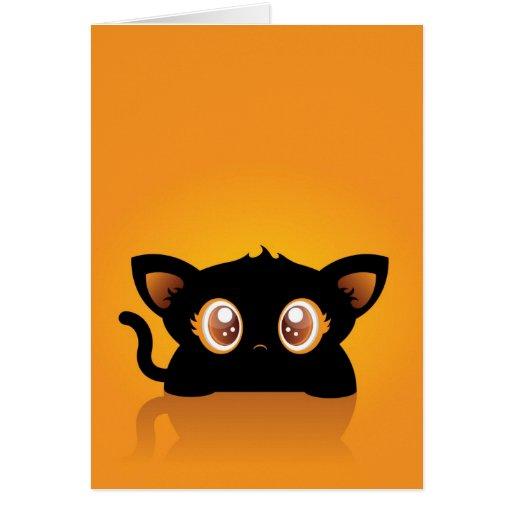 Tarjeta del gato de Halloween