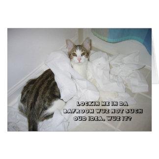 Tarjeta del gato de LOL