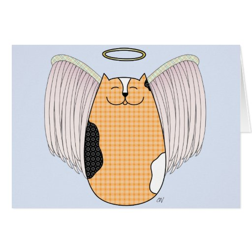 """Tarjeta del gato del ángel"""