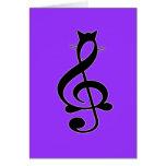 Tarjeta del gato del jazz