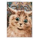 Tarjeta del gato del papel pintado de Louis Wain d