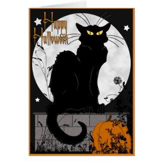 Tarjeta del gato negro