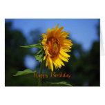 Tarjeta del girasol del feliz cumpleaños