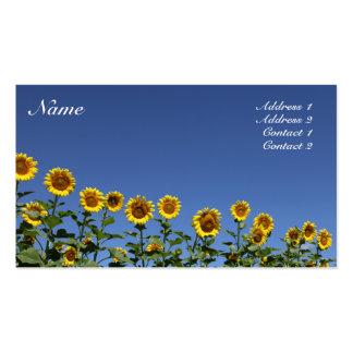 Tarjeta del girasol tarjetas de visita