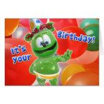 Tarjeta del globo del cumpleaños de Gummibär