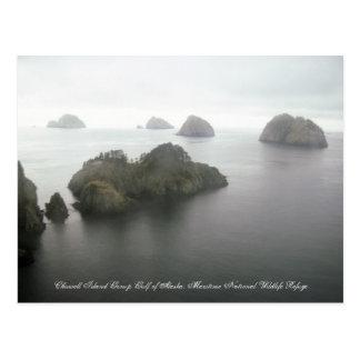 Tarjeta del golfo de Alaska del grupo de islas de Tarjetas Postales