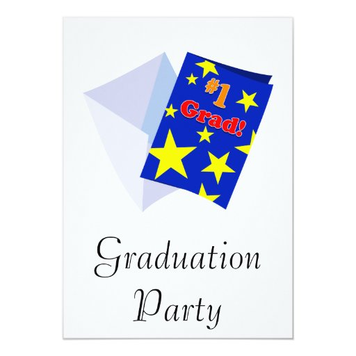 Tarjeta del graduado #1 invitaciones personales