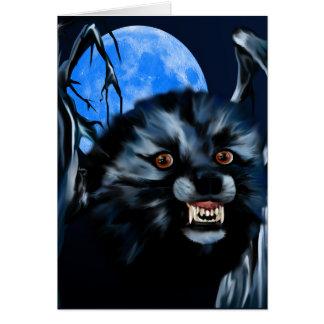 Tarjeta del gruñido del lobo