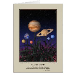 Tarjeta del grupo del planeta