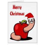 Tarjeta del gusano del navidad
