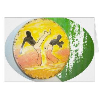 tarjeta del hacha del ginga del capoeira