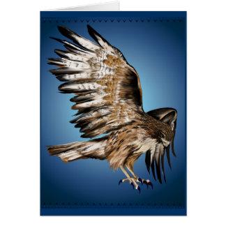 Tarjeta del halcón del vuelo