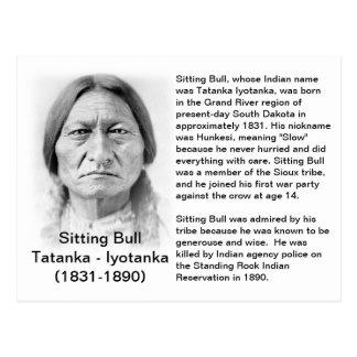 TARJETA del HECHO de Bull de sentada Postal