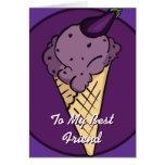 Tarjeta del helado de Egglplant