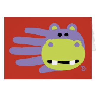 Tarjeta del hipopótamo