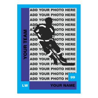 Tarjeta del hockey tarjeta de visita