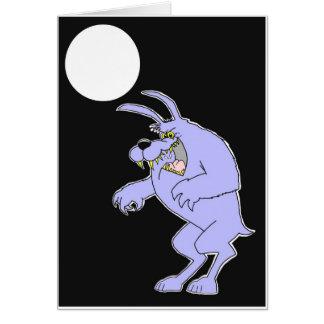 tarjeta del hombre lobo