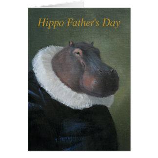 Tarjeta del hombre renacentista del hipopótamo del
