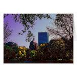 Tarjeta del horizonte de Boston