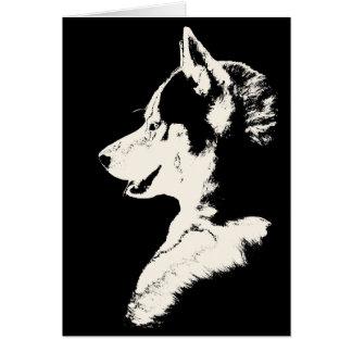 Tarjeta del husky siberiano tarjeta del Malamute d