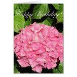Tarjeta del Hydrangea del rosa del feliz cumpleaño
